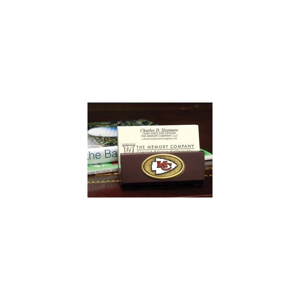 NFL Kansas City Chiefs Football Business Card Holder