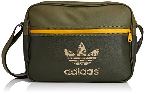 Adidas, Borsa Originals Airliner Classic Street, Verde (Night Cargo F14-St/Olive Cargo S15-St/Collegiate Gold), Taglia unica