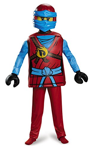 Disguise Nya Deluxe Ninjago LEGO Costume, Medium/7-8