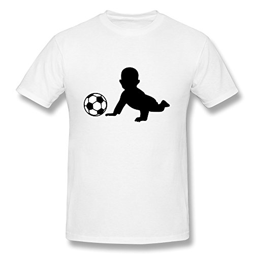 100% Cotton Geek Fussball Baby T-Shirts For Man'S - Round Neck front-1065762