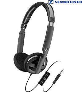 Sennheiser PX 100-II i Light Weight Supra-Aural Headset with 3 Button Control for i-Pod,i-Phone and i-Pad (Black)