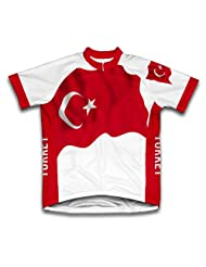 Turkey Flag Short Sleeve Cycling Jersey for Women