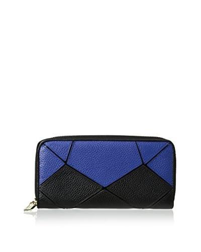 Zenith Women's Two Tone Wallet, Cobalt/Black