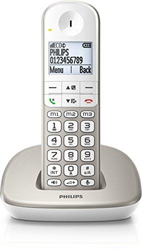 Philips XL4901S/FR téléphone sans fil DECT confort touches larges solo argent