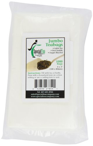 Special Tea Company 4 By 3-Inch 1000-Piece Empty Tea/Herbs Bags, Jumbo
