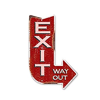 Handcrafted Vintage Right Exit Arrow Steel Sign