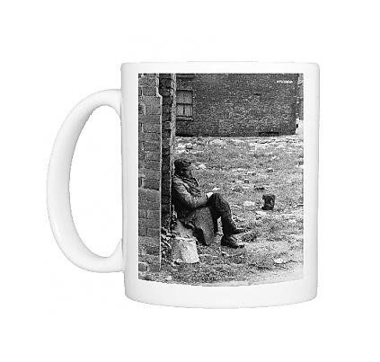 Photo Mug Of Man Sitting In Cleared Area - Manchester 1965