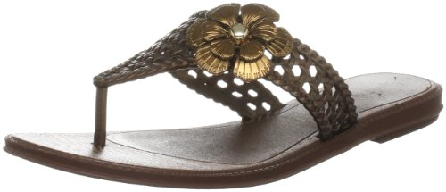 Grendha Women's Donna Brown Open Toe Flats 80763