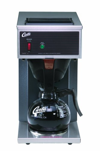 Wilbur Curtis Commercial Pourover Coffee Brewer 64 Oz Coffee Brewer, 1 Station, 1 Lower Warmer – Coffee Maker with Fast-Brewing System – CAFE1DB10A000 (Each)
