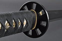 Fully Handmade Black Full Tang Japanese Samurai Katana Sword #332