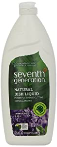 Seventh Generation Dish Liquid, Lavender Floral & Mint, 25-Ounce Bottles (Pack of 6) Packaging May Vary