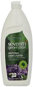 Seventh Generation Dish Liquid, Lavender Floral & Mint, 25-Ounce Bottles (Pack of 6)