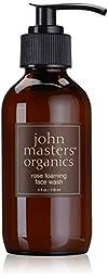 John Masters Organics Foaming Face Wash, Rose, 4 Ounce