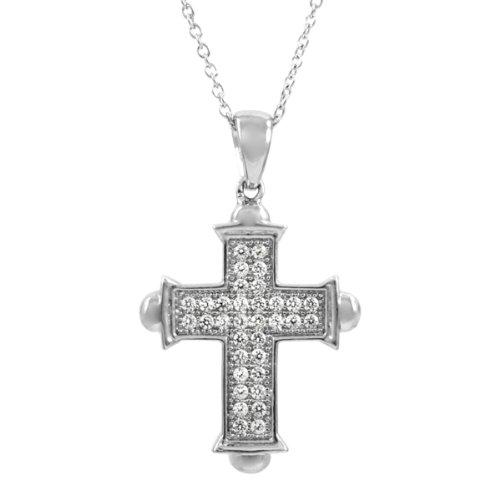 Marcella's CZ Cross Fashion Necklace