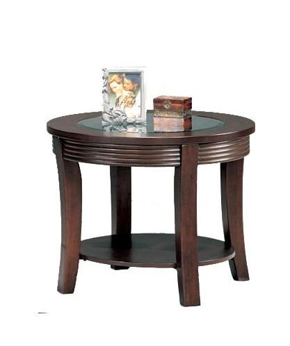 Terrific Coaster Furniture 5524 Simpson Round End Table With Glass Alphanode Cool Chair Designs And Ideas Alphanodeonline