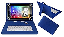 Acm Premium Usb Keyboard Case For Byond Laplet L9 Cover Stand With Free Micro Usb Otg - Blue