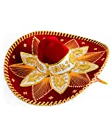 Red and Gold Mariachi Sombrero