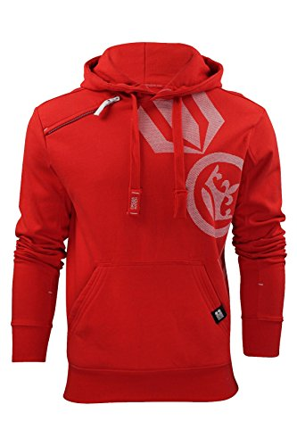 Mens Hoodie Sweat-Top da Crosshatch 'Pacific Hoody' (Alta Red) L