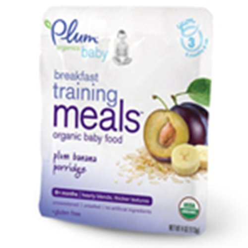 Plum Organics Breakfast Training Meals Baby Food, Plum Banana Porridge , 4-Ounce (Pack of 6)