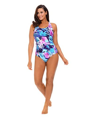 Swimsuitsforall Plus Women's Shirred Side Swimsuit