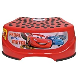 Disney Car Step and Glow Step Stool (Red) Light-Activated By A Push Button