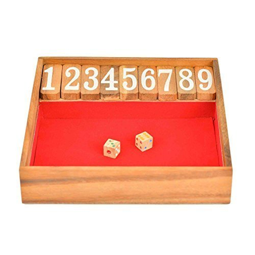 BRAIN GAMES Shut The Box Classic Wooden Family Board Games, Large (Giant Slide Rule compare prices)