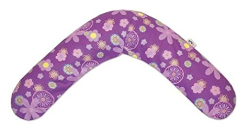 Theraline Maternity and Nursing Pillow with Removable Zippered Cover, Retro Purple Flowers