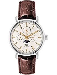 Rotary Greenwich Men's Quartz Watch with White Dial Chronograph Display