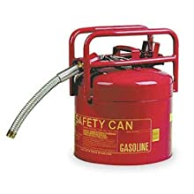 "Eagle 1215 Type II Red DOT Transport Safety Can with 1"" Spout, 5 gallon Capacity, 15.75"" Height, 12.5"" Diameter"