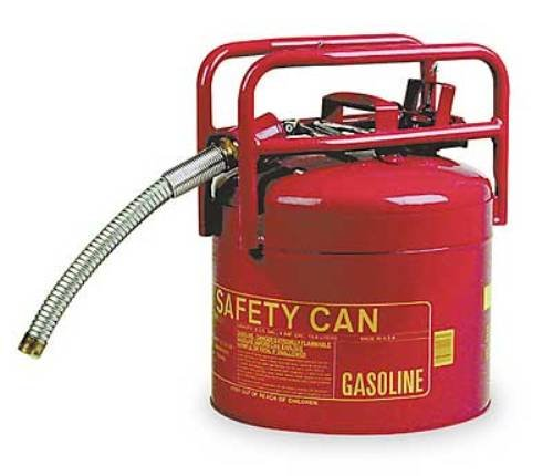 Images for Eagle 1215-SX5 Red Galvanized Steel Type II DOT Transport Gas Safety Can with 5/8