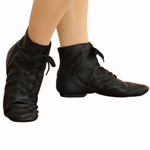 Black / leather Jazz shoes ( middrcatt ) 26.0 cm-adult children's kids junior children children's hip hop pop Shoes Sneakers made in China cheap mail order dance supplies lesson for practice stage