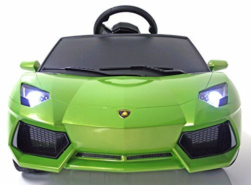 Original Battery Operated Ride on Lamborghini Aventador Lp700 Power Kids Ride on Toy Remote Control Battery 6v-7ah Licensed Car for Kids with Key and Lights Mp3 Input by OR [並行輸入品]