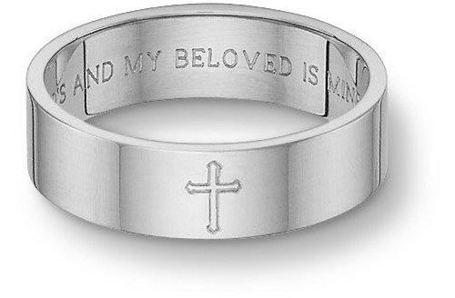 Catholic Wedding Ring 0 Ideal Platinum Song of Solomon