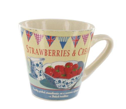 'Stawberries & Cream' Mug (G625) Ideal Gift By Giftsforthepresent