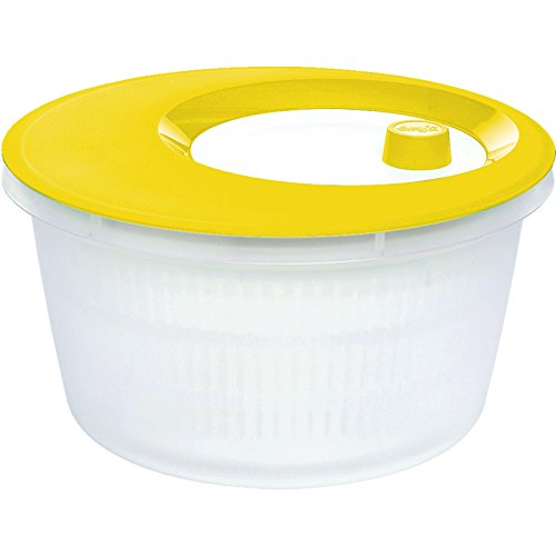Emsa 516857 Basic Essoreuse à Salade Plastique Blanc/Jaune 18 x 18 x 12 cm 4 L