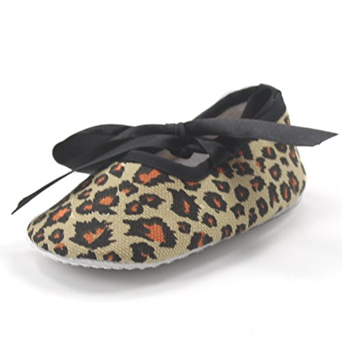 Msmushroom New Cotton Leopard Loafers Kid Shoes,3M