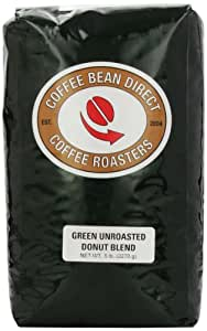 Green Unroasted Donut Blend, Whole Bean Coffee, 5-Pound Bag
