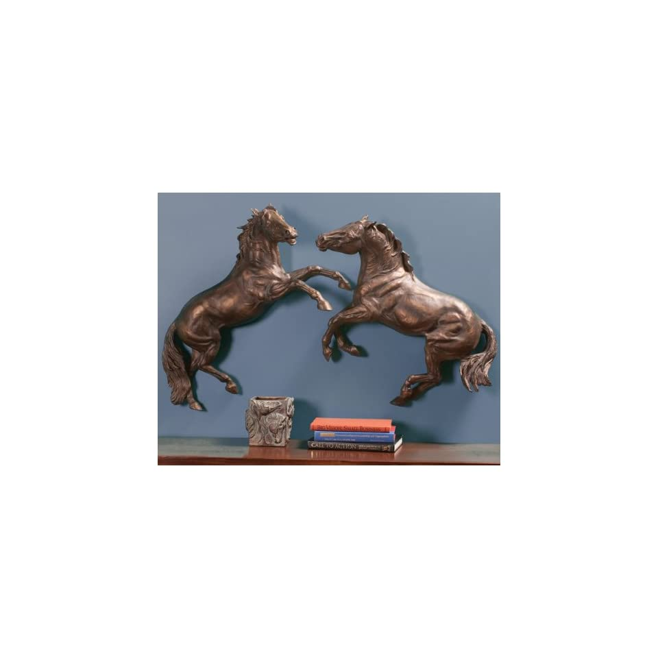 Two Horses Clashing Wall Art