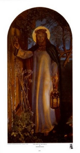 William Holman Hunt - The Light of the World Fine Art Print (27.94 x 53.34 cm)