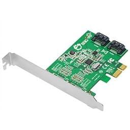 Intel SIIG SC-SA0L11-S1 2Port SATA 6Gb/s PCI Express Dual Profile Brown Box Controller Card