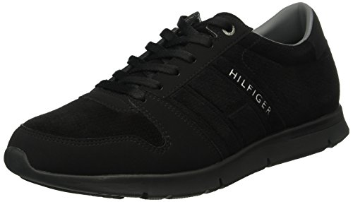 Tommy Hilfiger T2285Obias 5b, Scarpe Low-Top Uomo, Nero (Black (990)), 42 EU