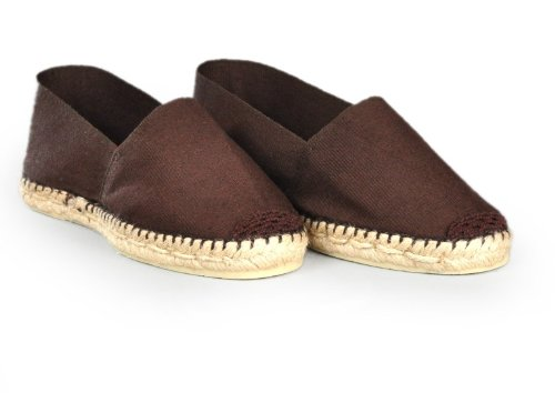 Espadrille-homme-marron-fabrication-artisanale-made-in-pays-basque-france