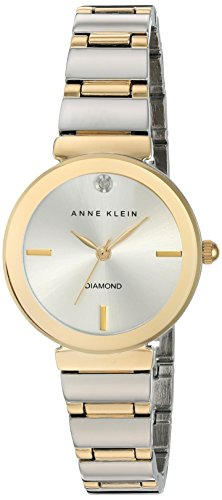 Anne Klein Women's Quartz Watch with Silver Dial Analogue Display and Two Tone Alloy Bracelet AK/N2435SVTT