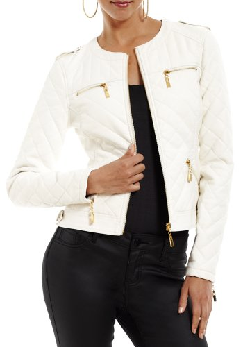2B Collarless Quilted Jacket 2b Jackets White-m