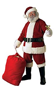 Rubie's Costume Deluxe Ultra Velvet Santa Suit, Red/White, XX-Large Costume