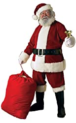Rubie's Costume Deluxe Ultra Velvet Santa Suit Costume
