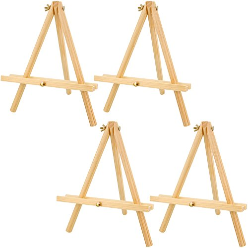 US Art Supply 12 inch Tall Tripod Easel Natural Pine Wood (Pack of 4 Easels) (Table Top Painting Easel compare prices)