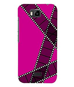 Fuson 3D Printed Colour Pattern Designer Back Case Cover for Huawei Honor Bee - D910