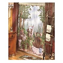 In the Woods Shower Curtain - Lodge Decor