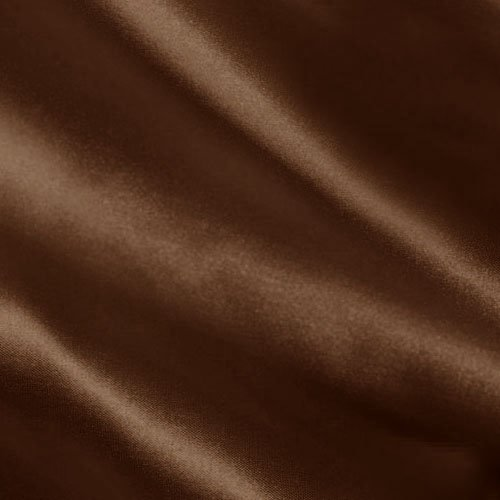 Charmeuse Satin Chocolate Fabric By The YD